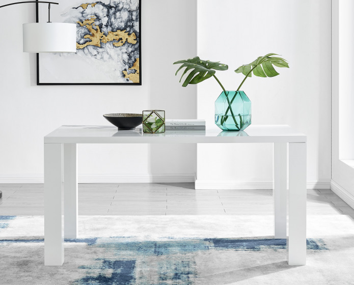 Pivero White High Gloss Dining Table