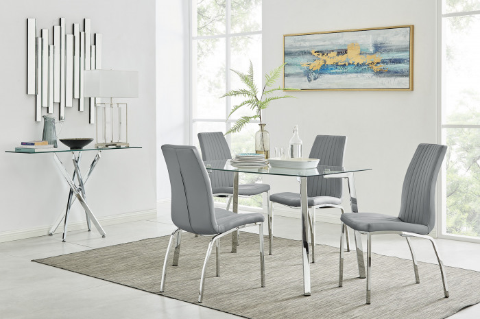 Cosmo Dining Table and 4 Isco Chairs