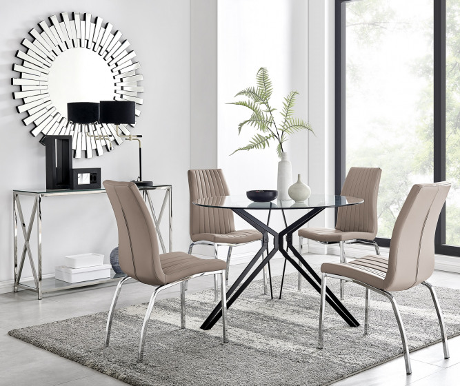 Cascina Dining Table and 4 Isco Chairs