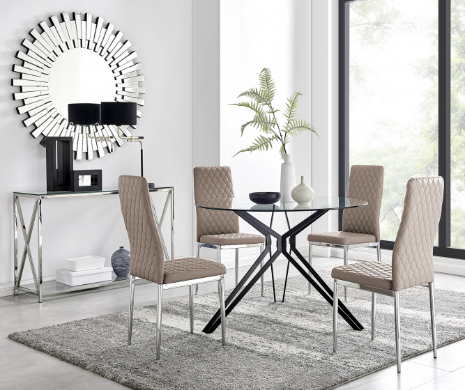 Cascina Dining Table and 4 Milan Chairs