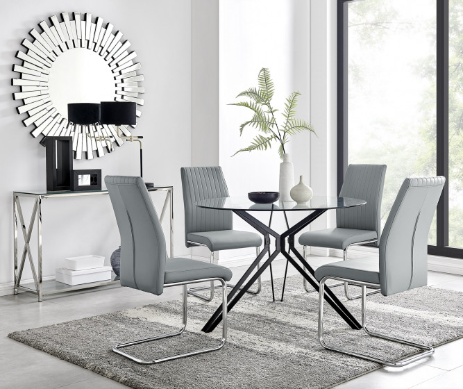 Cascina Dining Table and 4 Lorenzo Chairs