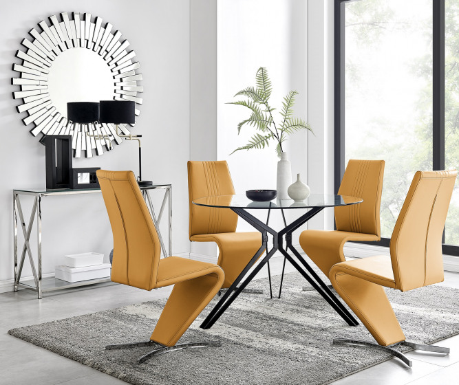 Cascina Dining Table and 4 Willow Chairs