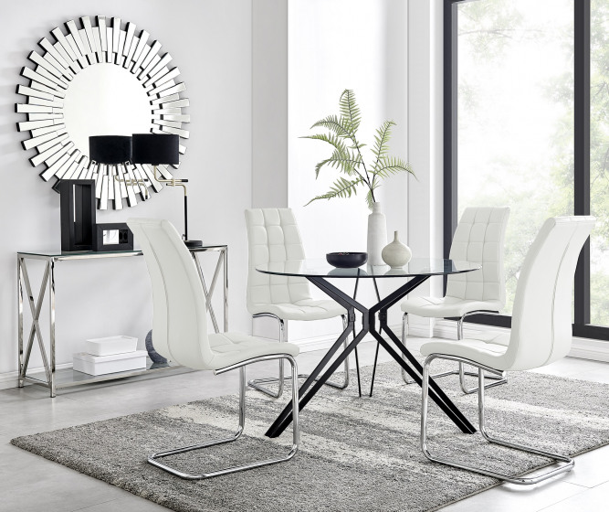 Cascina Dining Table and 4 Murano Chairs