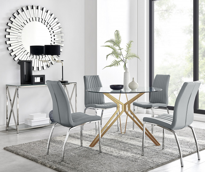 Empoli Dining Table and 4 Isco Chairs