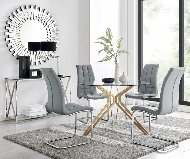 Empoli Dining Table and 4 Murano Chairs