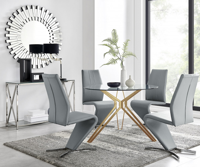 Empoli Dining Table and 4 Willow Chairs
