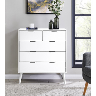 Alma Large White Chest of Drawers