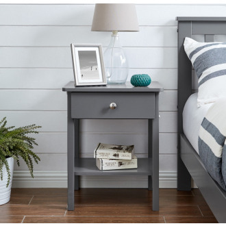 Oslo Grey Bedside Table