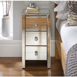 Murano Mirrored Bedside Table
