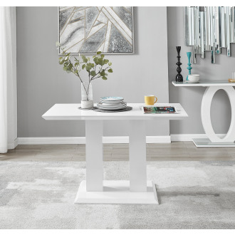 Imperia 4 Modern White High Gloss Dining Table
