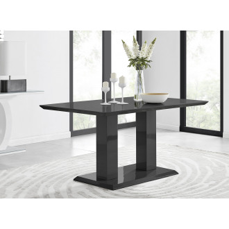 Imperia 6 Black High Gloss Dining Table