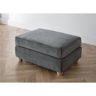 Lindy Footstool in Charcoal Grey