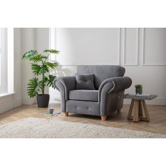 Lindy Armchair in Charcoal Grey