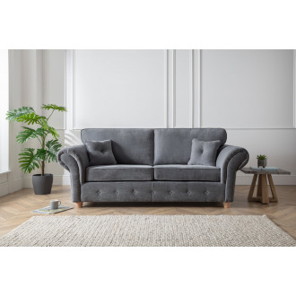 Lindy 3 Seater Sofa in Charcoal Grey