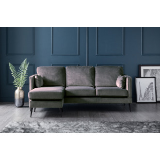 Olive Left Hand Chaise Lounge Sofa in Cosmic