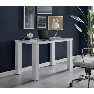 Pivero White High Gloss Computer PC Home Working Office Desk