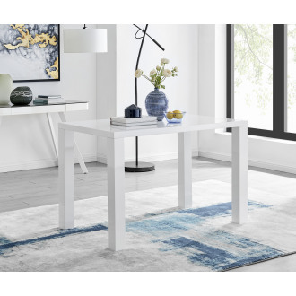 Pivero White High Gloss Dining Table (4)