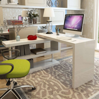 White High Gloss Siena Luxury Work Office Computer Desk