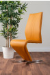 2x Willow Mustard Yellow Faux Leather Chrome 'Z' Dining Chairs