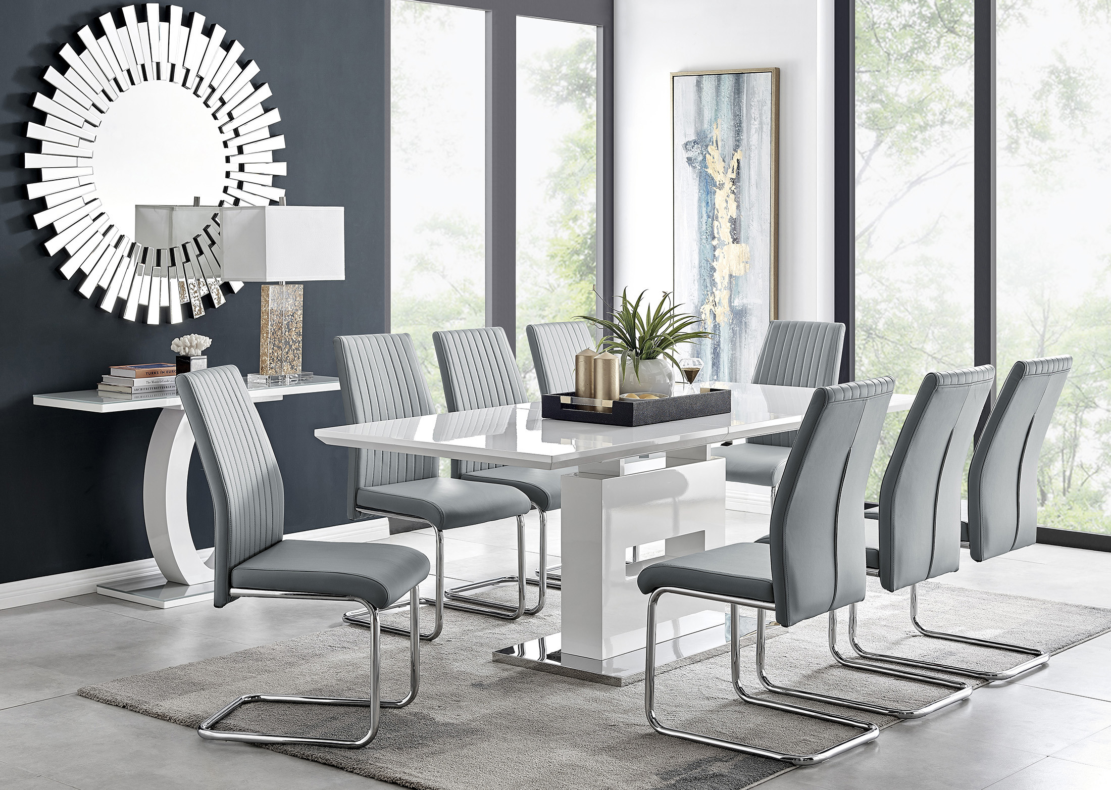 Large Extending Dining Table 8, Dining Room Table For 8