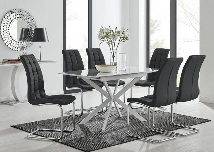LIRA 120 Extending Dining Table and 4/6 Murano Chairs
