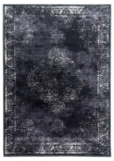 Vintage Shabby-Chic Distressed Rug in Carcoal - 160x220cm