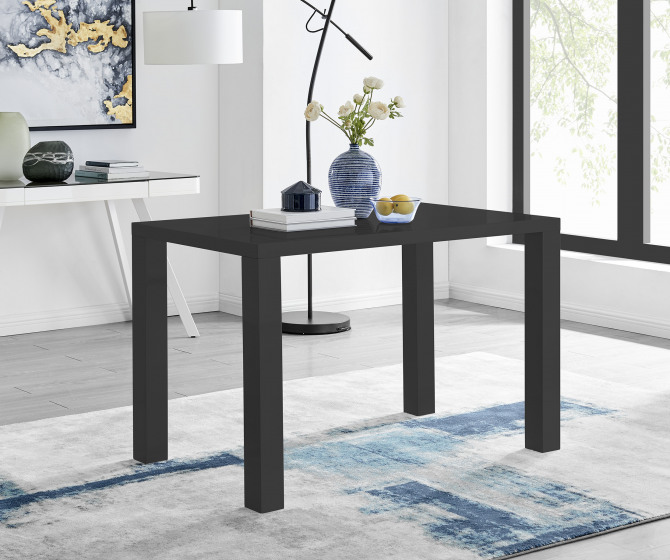 Pivero Black High Gloss Dining Table (4)