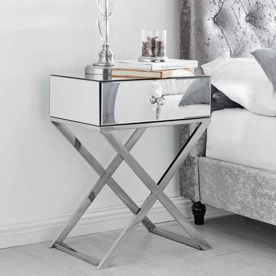 Celeste Mirrored Bedside Table