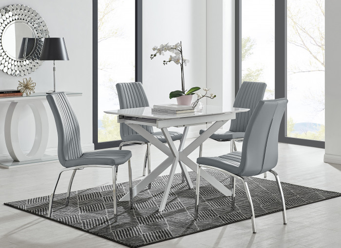 LIRA 100 Extending Dining Table and Isco Chairs