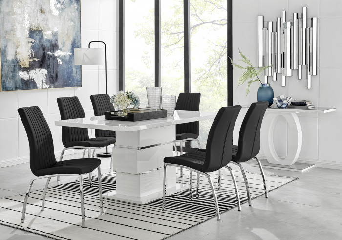 Apollo 6 Table and 6 Isco Chairs