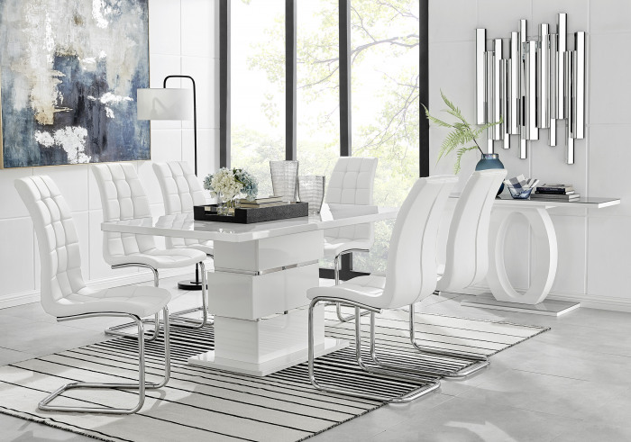 Apollo 6 Table and 6 Murano Chairs