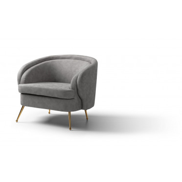 Bentley Accent Chair Space Grey Gold Legs