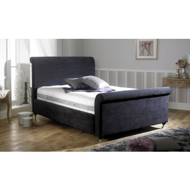 Alexandria Chenille Upholstered Bed Frame and Headboard
