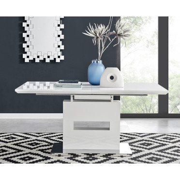 Arezzo Large Extending White High Gloss Dining Table