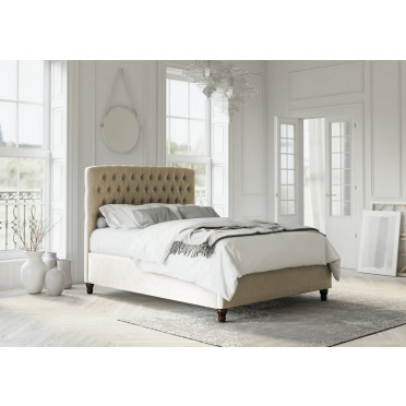 Athens Upholstered Chesterfield Bed Frame and Headboard