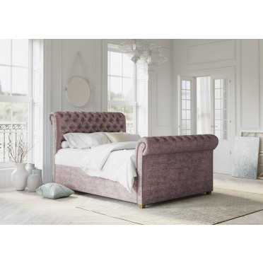 Chesterfield Classic Sleigh Bed Frame and Headboard