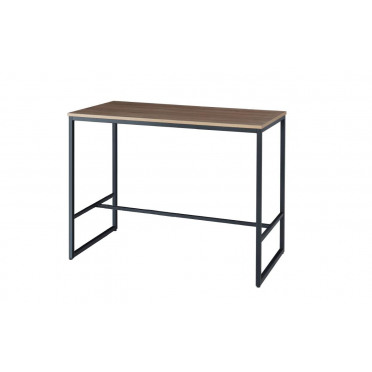 Boston Modern Rectangular Brown Wood And Black Industrial Metal High Bar Table