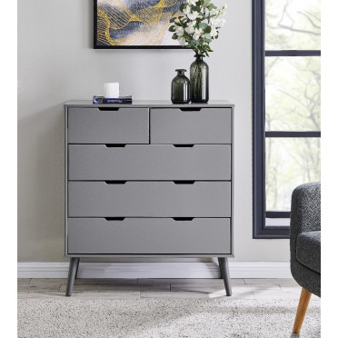 Alma Large Grey Chest of Drawers