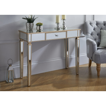 Madrid Side Console Hallway Mirrored Drawer Table