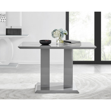 Imperia 4 Grey Modern High Gloss Dining Table