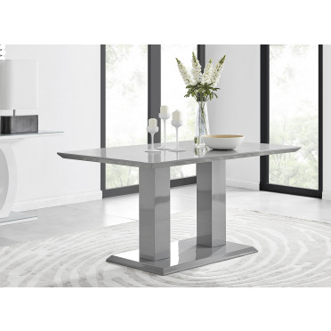 Imperia 6 Grey Modern High Gloss Dining Table