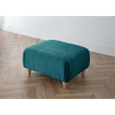 Piper Footstool in Emerald Green