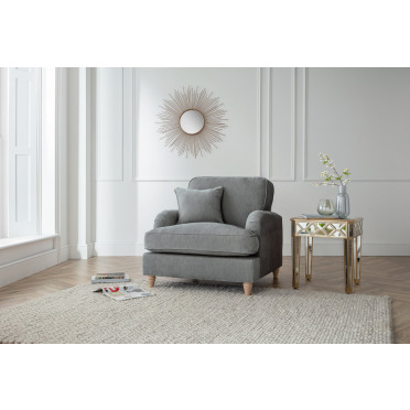 Piper Armchair in Charcoal Grey