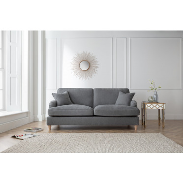 Piper 3 Seater Sofa in Charcoal Grey