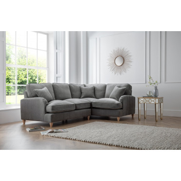 Piper Right Hand Corner Sofa in Charcoal Grey
