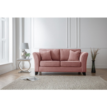 Betty 2 Seater Sofa in Plum Pink