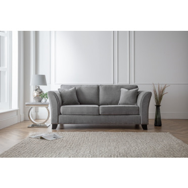 Betty 3 Seater Sofa in Charcoal Grey