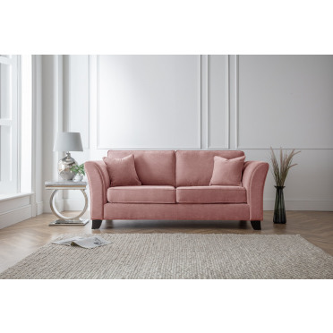 Betty 3 Seater Sofa in Plum Pink