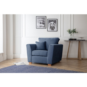 Fred Armchair in Navy