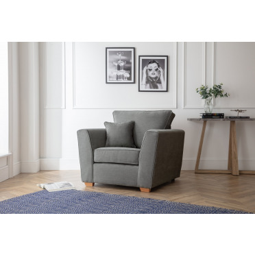 Fred Armchair in Charcoal Grey
